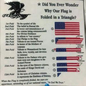 fold flag